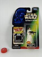 "Kenner Star Wars Power of the Force Princess Leia Organa w/ Blaster Rifle 3.75"""