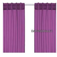 "IKEA SARITA - Pair of Curtain Window Panels Sheer Dark Lilac 57 x 118 """