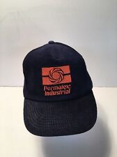 Trucker Hat Baseball Cap Navy Blue Corduroy w/ Permatex Industrial Logo Snap Bac