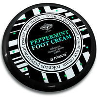 Rolencos Peppermint Cooling Foot Cream 4.20oz, Moisturizing, Callus Remover