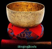 "Antique Tibetan Singing Bowl: Karma 6 3/8"", ca. 18th C., G#3 & D5.VIDEO"