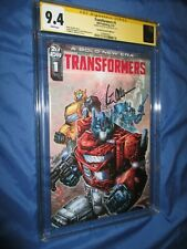 TRANSFORMERS #1 IDW CGC 9.4 SS Signed RI Variant by Peter Cullen OPTIMUS PRIME