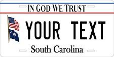 South Carolina In God v2 License Plate Personalized Custom Auto Bike Motorcycle