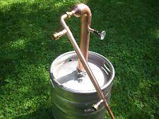 """Beer Keg Kit 2"""" inch Copper Pipe Moonshine Still Pot Still Column reflux"""