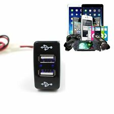 Car 12V 5V 3.3A Dual USB Ports Dashboard Mount Charger For TOYOTA VIGO