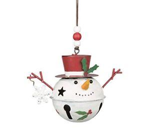 Snowman Christmas Bell Decoration