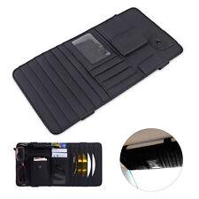 Black Multifunctional Sun Visor Accessories Card Tissue Box CD DVD Holder Pocket