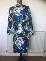Marks And Spencer Floral Summer pencil wiggle party event dress Size:14 Petite