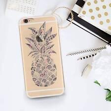 Clear Pineapple Pattern Phone Case Slim TPU Cover Bumper for iPhone 7 7 Plus