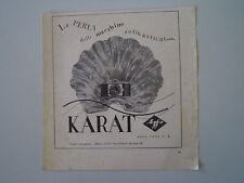 advertising Pubblicità 1940 AGFA KARAT