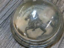 Vintage Advertising Glass Paper Weight New Orleans Louisiana Jackson Monument