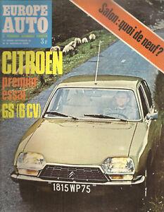 EUROPE AUTO 1970 42 CITROEN GS SIMCA 1000 TRIUMPH TOLEDO SALON DE L'AUTO