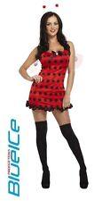 SEXY Rosso LADYBUG Costume antenne ALI UK 10/11 Carnevale Costume