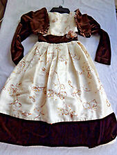 Munega holiday event Dress Christmas 8 brown velour poofy tulle dress 2pc jacket
