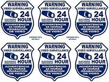 LOT OF 6  Security Video Surveillance Decal Sign Stickers for Windows & Doors