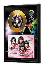 Pink Floyd Gold Vinyl Look CD, Autograph & Plectrum Display #2