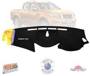 DASH MAT Nissan Navara D23 NP300 ST-X ST MARCH/2015-2019 BLACK DM1390 STX