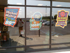 Self Cling removable Window Stickers full colour -No Adhesive! reusable stickers