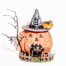 Kohl's Halloween Metal Decor Pumpkin Tealight Candle Holder Jack o lantern