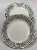 "Set of 6 Crown Ming China Princess Pattern Blue Floral Salad Soup 7.5"" Bowls AA"