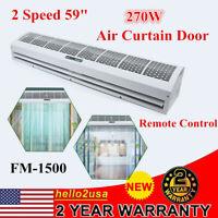 "270W 59"" Air Curtain Airdoor 2 Speed Air Curtain Commercial W/ Remote Control"