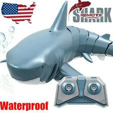 Set of Waterproof Remote Control Mini Shark Electric Toys Rc Boat Swinging Shark