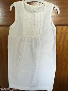 BNWT PureBaby Kids 100% Organic Cotton White Dress Size 6 years Pure Baby