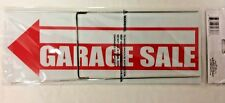 """GARAGE SALE sign ARROW RED Plastic SIGN includes HOLDERS 6""""x16"""""""