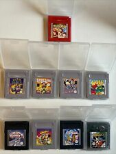 9 Game Boy Spiele mit Hülle   Pokemon rot / Beast / Mickey / Lucky....