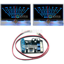 2pcs P 134 Vu Meter Head Db Level Power Amplifier Withbacklight With1pc Driver Board