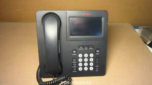 Avaya 9641G Black Gigabit IP Color Touchscreen VOIP Phone INCL HANDSET + STAND