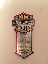 Harley Davidson Patent Metal Curved MEDALLION Springer Shock Heritage Oem Nos