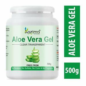KAZIMA Aloe Vera Gel For Skin Face, Acne Scars, Hair Care, Moisturizer 500 g