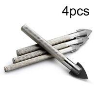 4 Pcs/Lot 6/8/10/12mm Ceramic Tile Marble Glass Carbide Tip Drill Bit Sets Kits