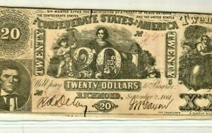 "$20 ""CONFEDERATE"" 1800'S (RARE) ""CONFEDERATE""  $20 ""CONFEDERATE"" 1800'S NICE!!!!"