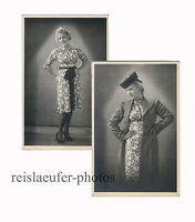 Modebewußt in den 1930ern, 2 Original-Photos um 1935
