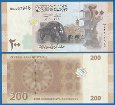 Syria 200 Pounds P 114 2009 UNC Low Shipping! Combine FREE!
