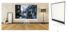 125x 125cm Trípode Portátil HD Blanco Mate desplegable pantalla Proyector Home Cinema