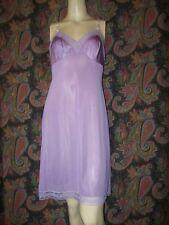 Vintage Vanity Fair Purple Silky Nylon Empire Slip Nighty Lingerie 34