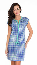 Nursing 100% cotton nightdress nightshirt 8 10 12 14  breastfeeding 7041