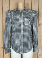 GREYSN Womens Size Medium Long Sleeve Shirt Pearl Button Down Plaid Print Top