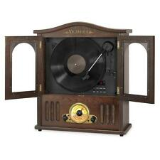 Victrola Wooden Wall-Mount Nostalgic Record Player with Vertical Turntable,.