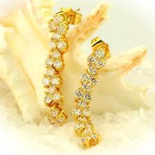 Ohrringe Stecker Zirkonia weiß Echt 750 Gold 18 Karat vergoldet gelbgold O2292