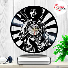 Jimi Hendrix Rock Vinyl Record Lp Wall Clock Home Art Decor Birthday Gift Idea