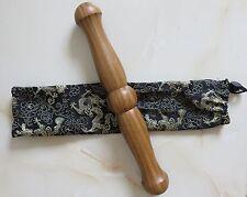 Green wingceltis wooden rods bar sticks martial arts tai chi ruler kung fu rods