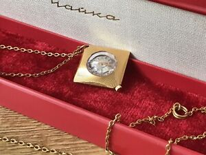 Vintage Watch Chaika Necklace Ladies Pendant Watch gold plated Russian Box