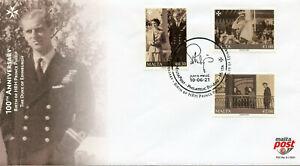 Malta 2021 FDC Royalty Stamps Prince Philip 100th Birth Anniv 3v Set