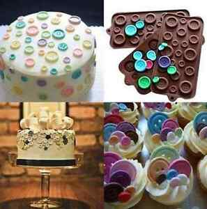 Silicone Button-shaped Chocolate Jelly Cupcake Tray Baking Muffin Mold US