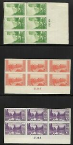USA 1935 MLH IMPERF NO GUM NATIONAL PARKS ISSUE PLATE BLOCKS OF 6
