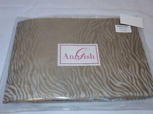Ann Gish Tigress King duvet cover Taupe 100% Silk NEW $1975